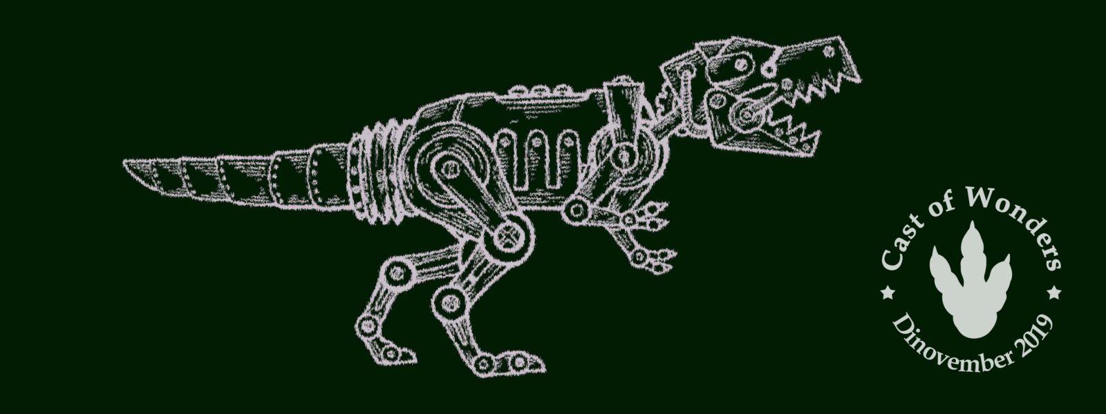 Image of a robotic dinosaur