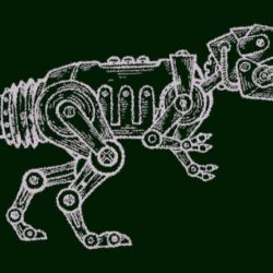 Image of a robotic dinosaur